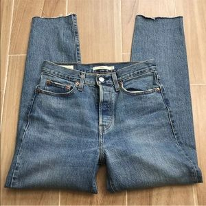 Levis Womans Wedgie Size 26 Crop Button fly